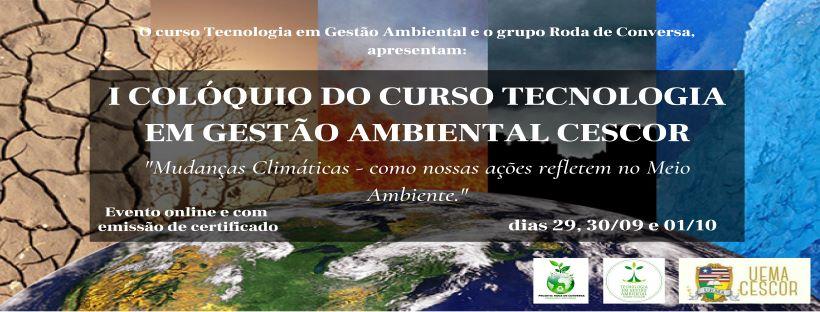 Evento - I Colóquio do Curso Tecnologia em Gestão Ambiental