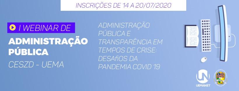 I Webinar de Administração Pública - Campus Zé Doca